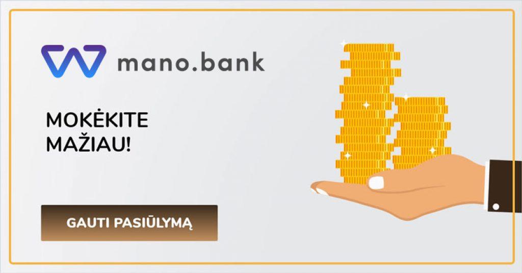 mano bank nemokamai